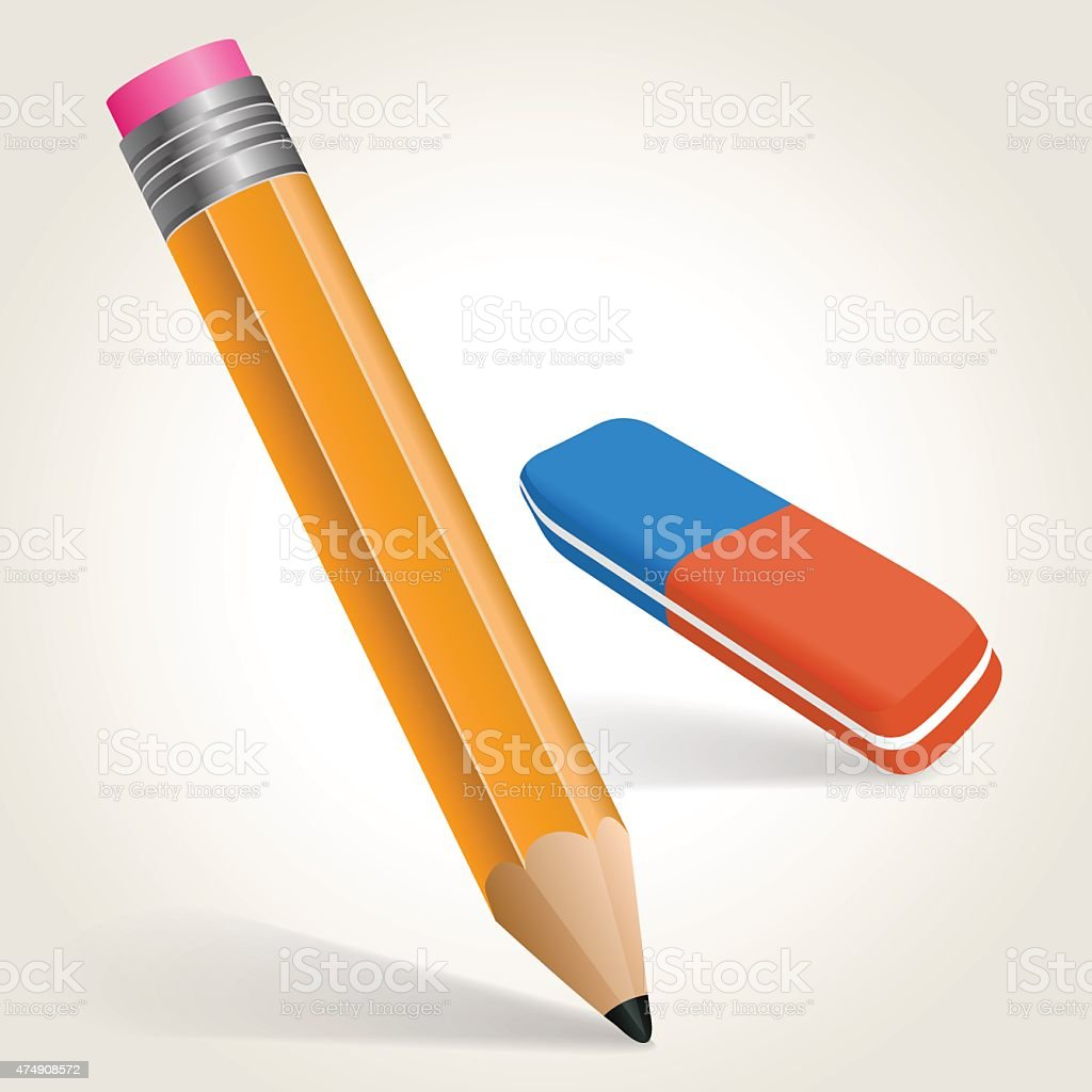 pencil vector art illustration