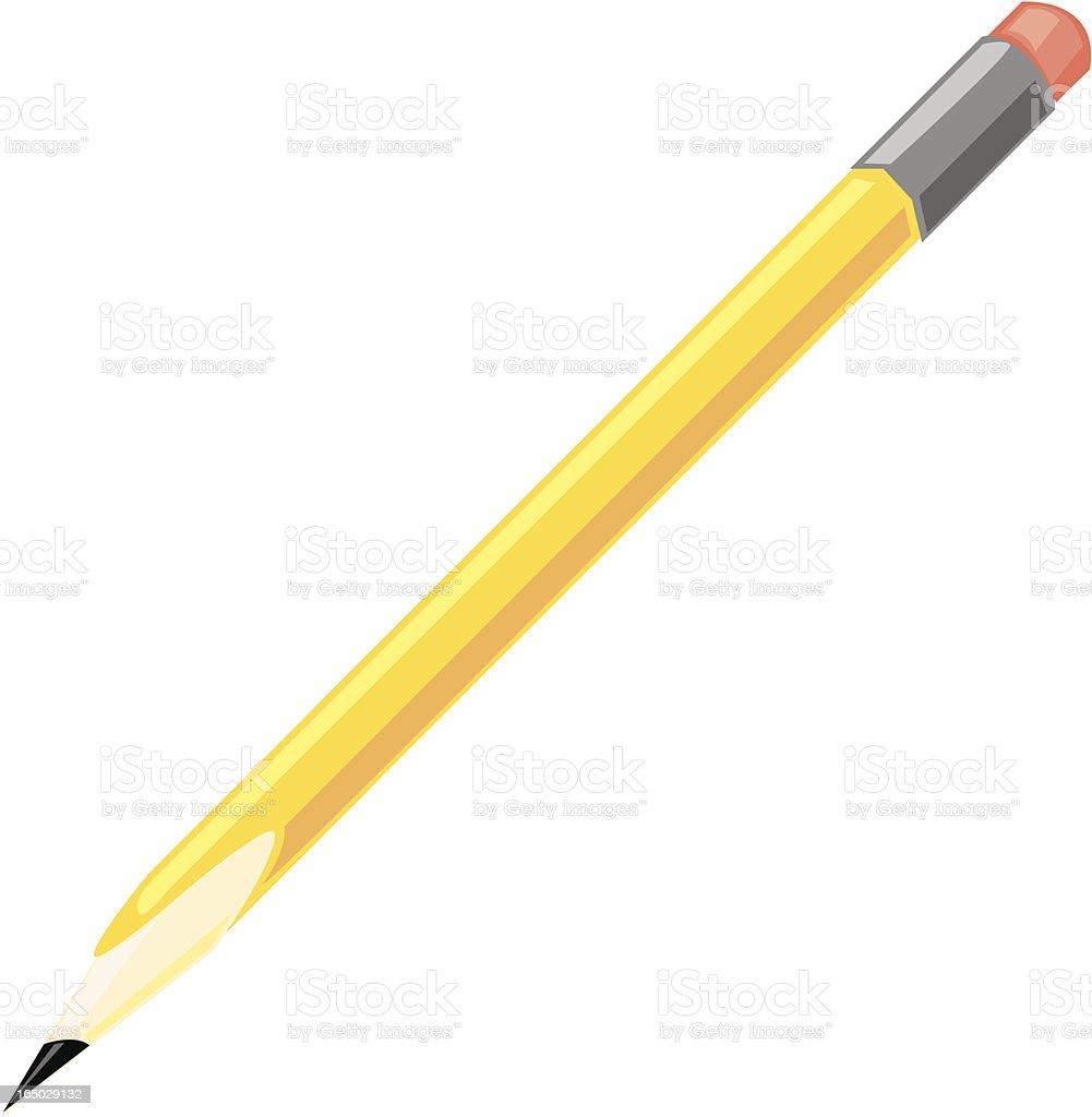Pencil - Vector royalty-free stock vector art