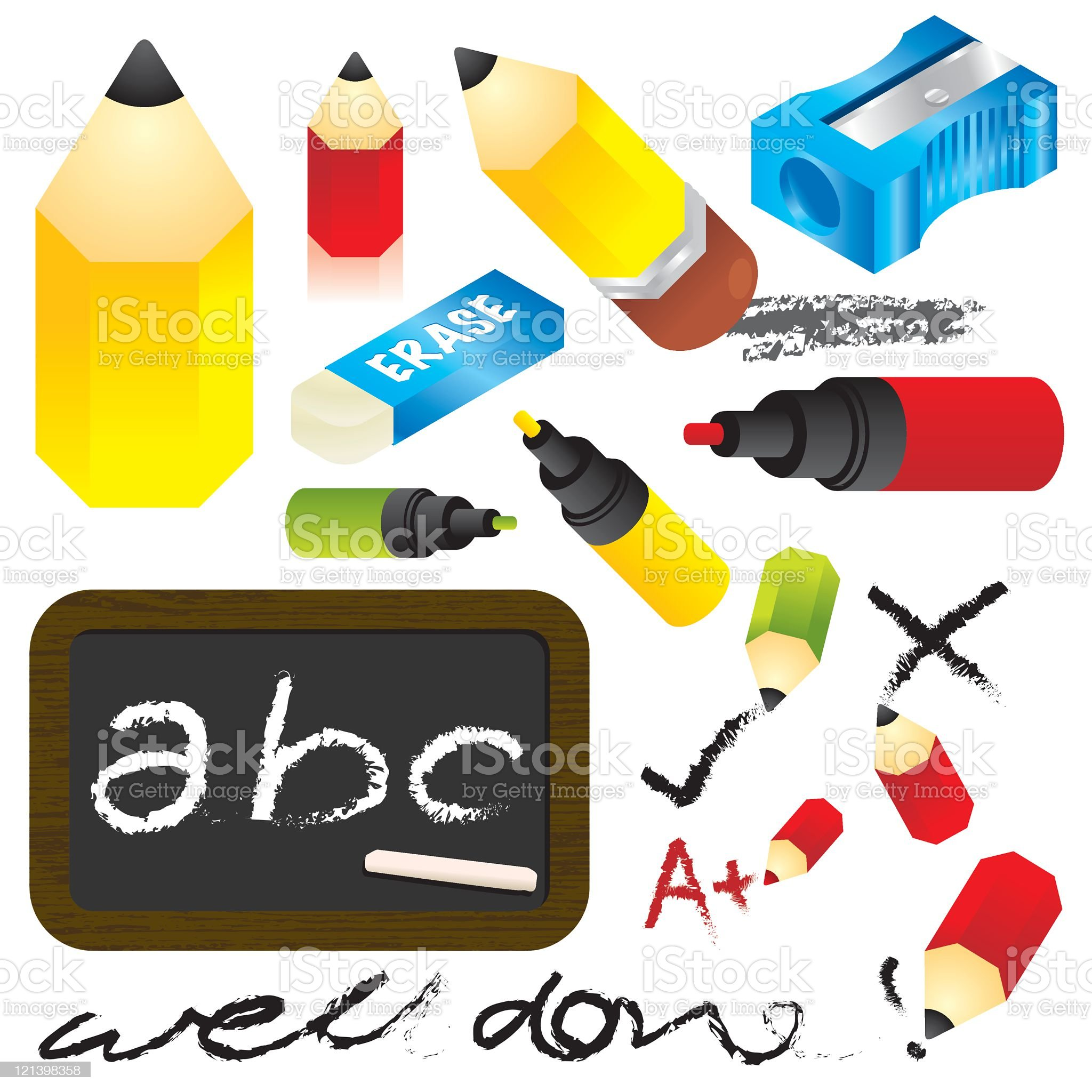 Pencils and stuff royalty-free stock vector art