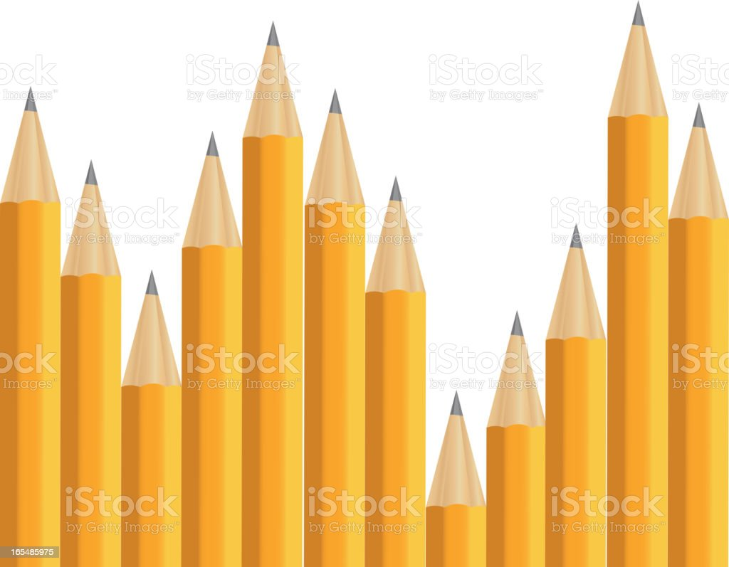 Pencils on white vector illustration royalty-free stock vector art