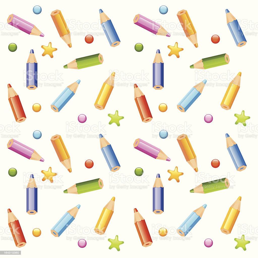 pencils seamless pattern royalty-free stock vector art
