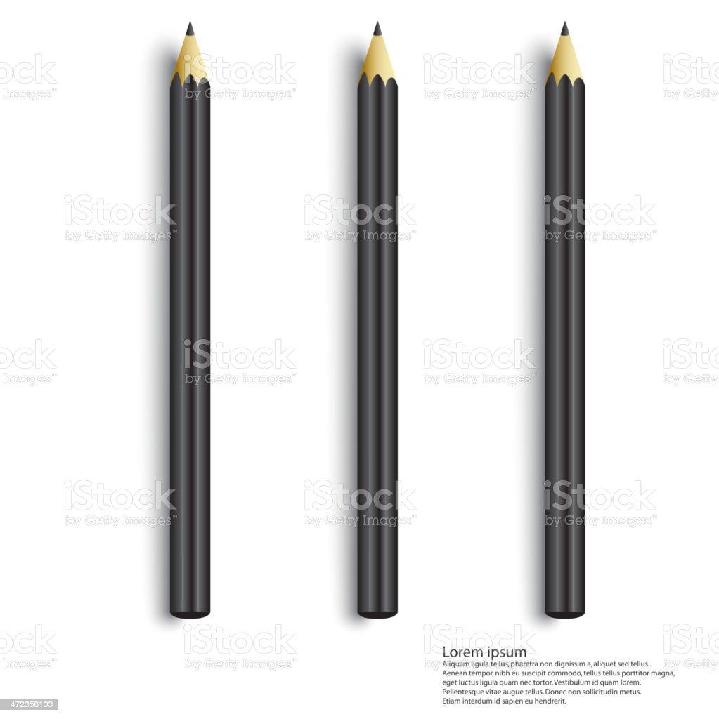 pencils royalty-free stock vector art