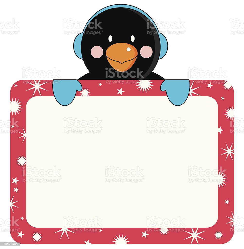 Penguin Invite or Placard royalty-free stock vector art