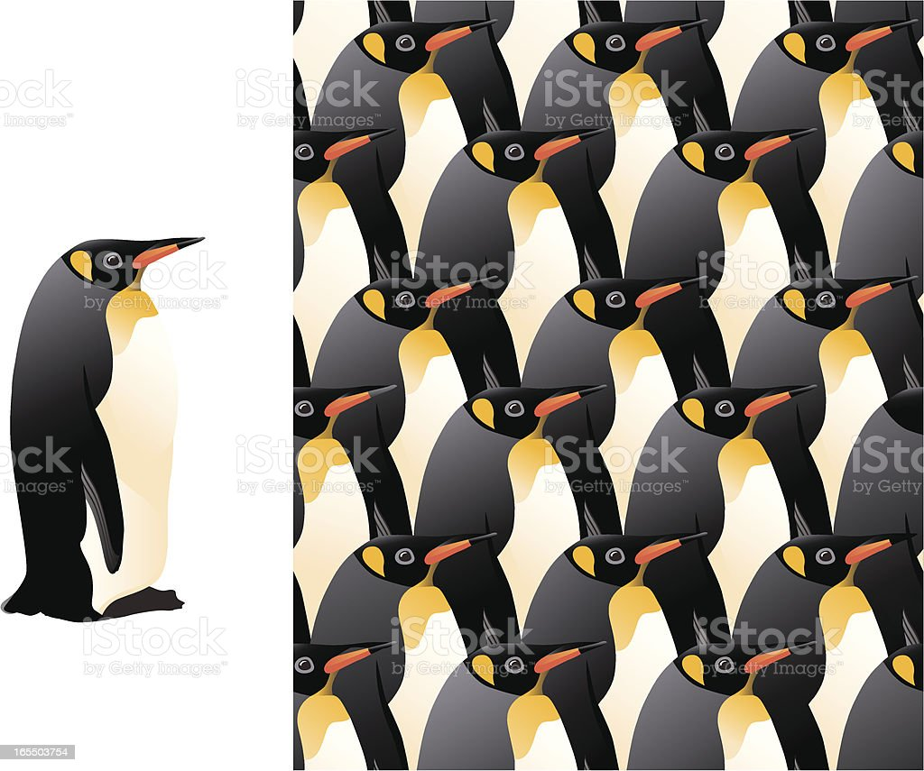 penguin repeat pattern royalty-free stock vector art