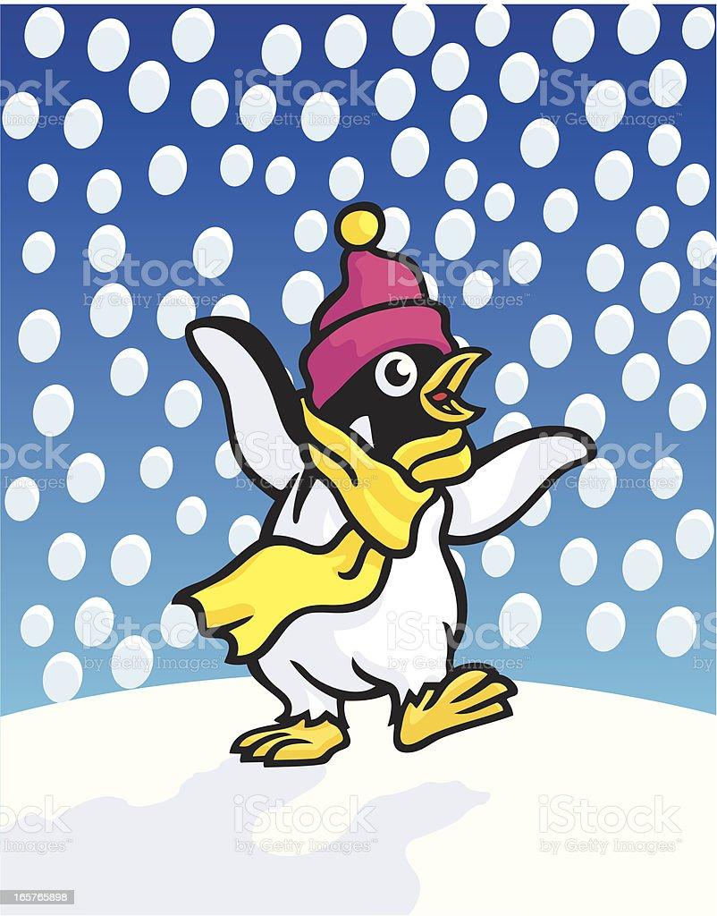 Penguin vector art illustration