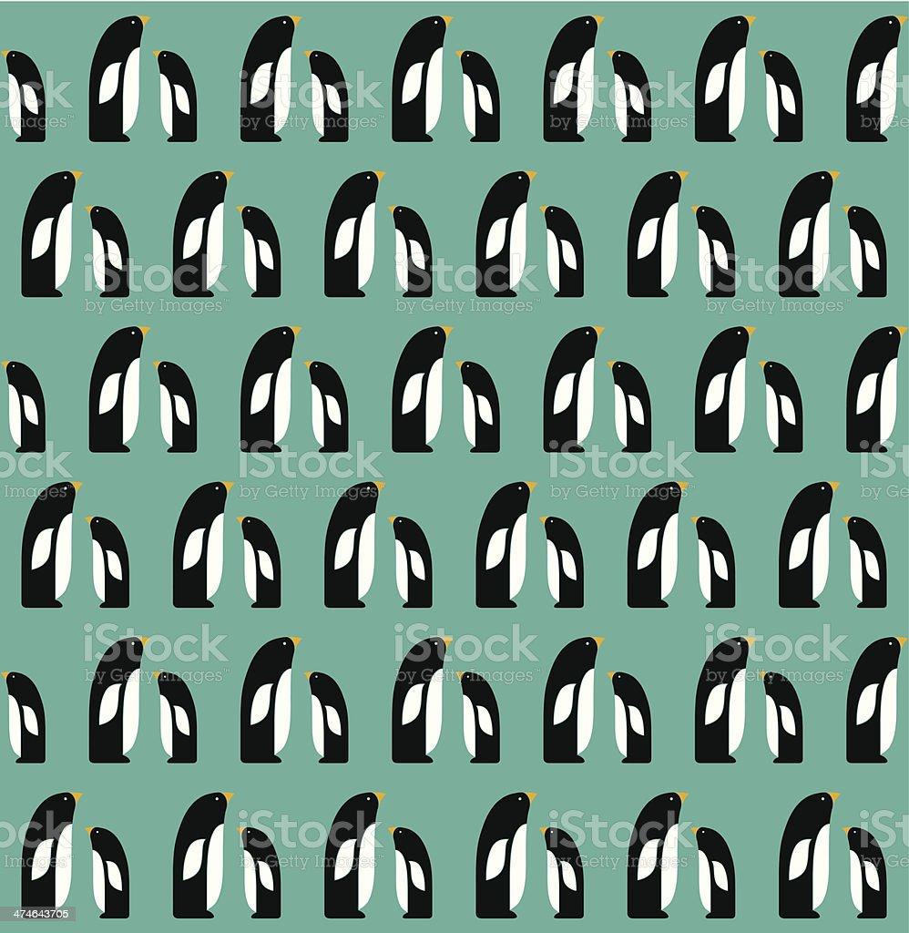 Penguins pattern royalty-free stock vector art