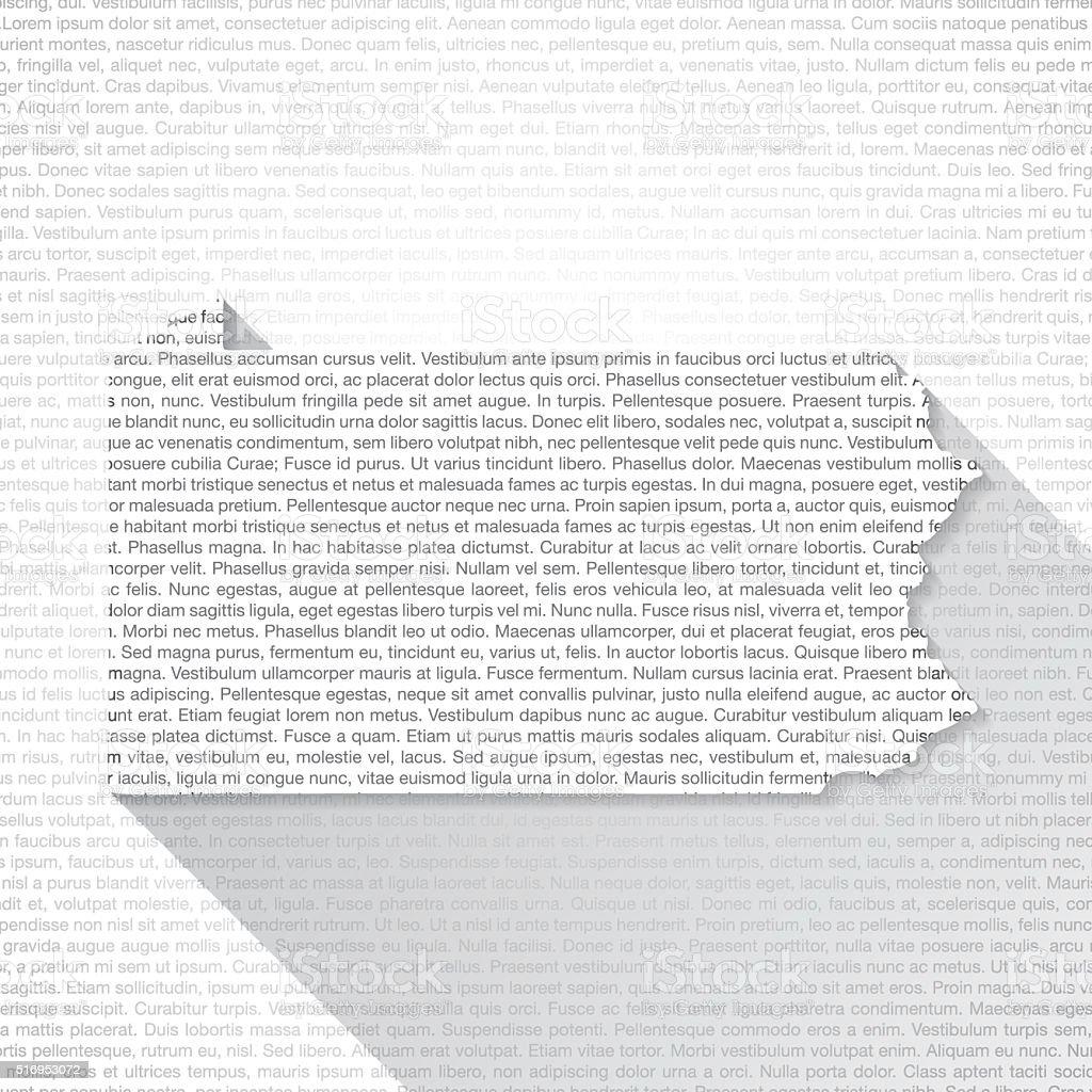 Pennsylvania Map on Text Background - Long Shadow vector art illustration