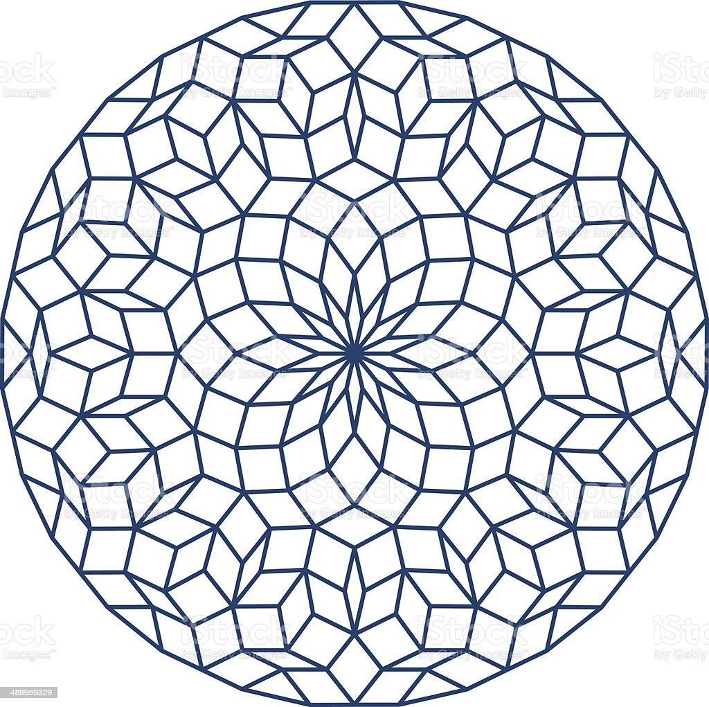 Penrose Tiling royalty-free stock vector art