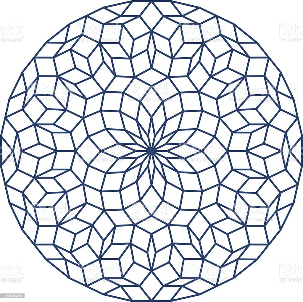 Penrose Tiling vector art illustration
