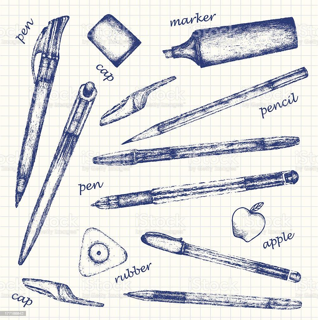 Pens royalty-free stock vector art