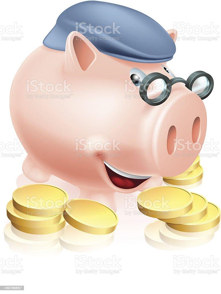 Pensioner savings concept royalty-free stock vector art