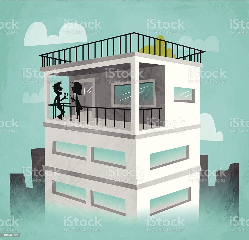 Penthouse royalty-free stock vector art