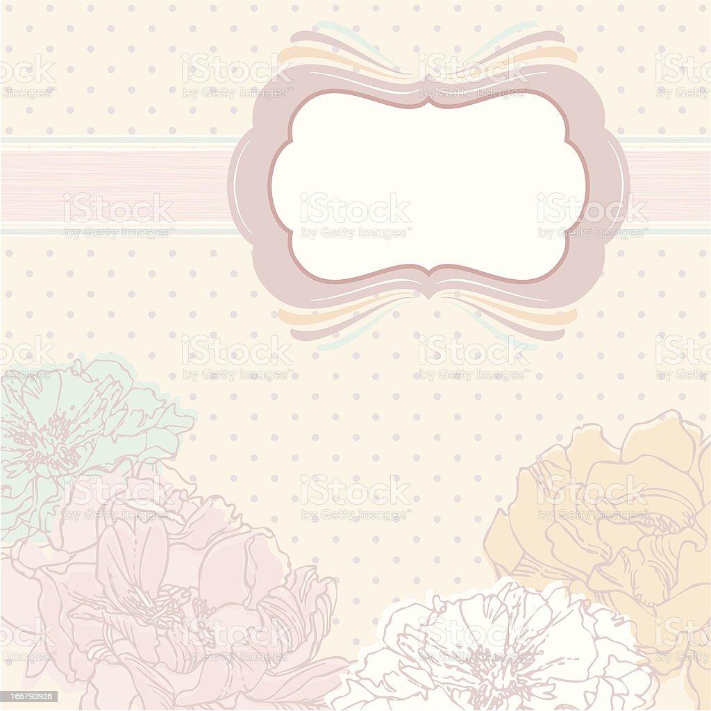 Peonies Wedding Invitation royalty-free stock vector art