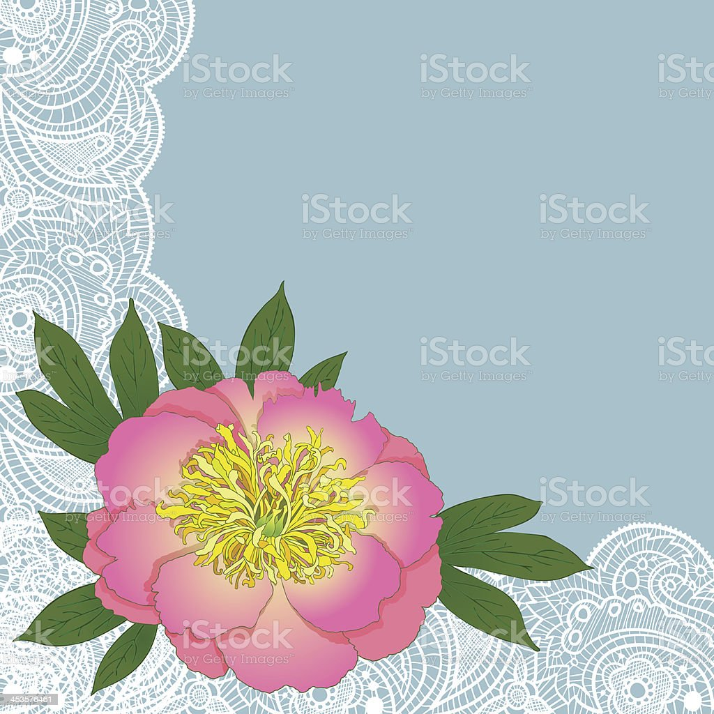 peony background royalty-free stock vector art