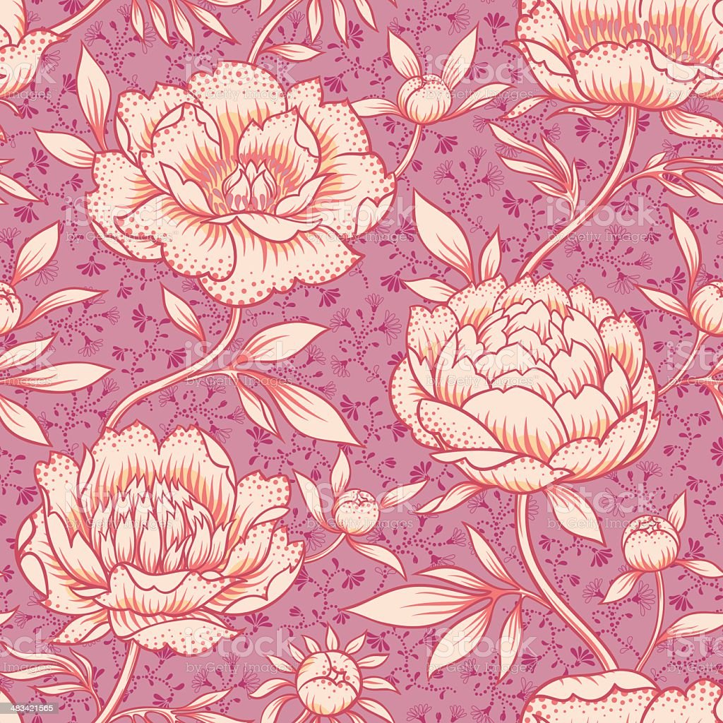 Peony pattern royalty-free stock vector art