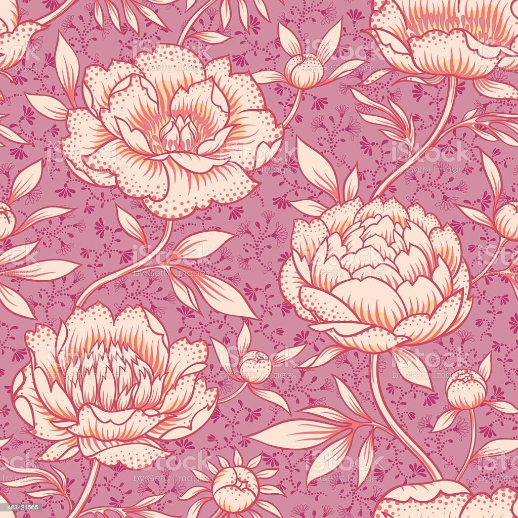 Peony pattern vector art illustration