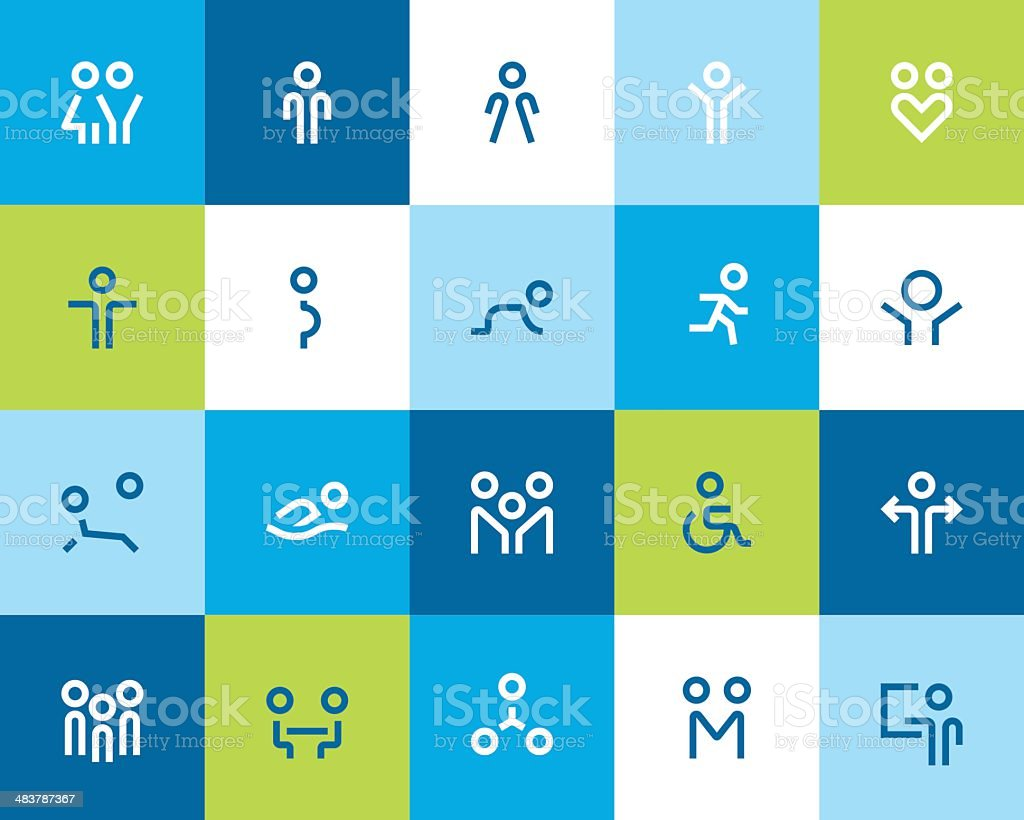 People and family icons. Flat vector art illustration