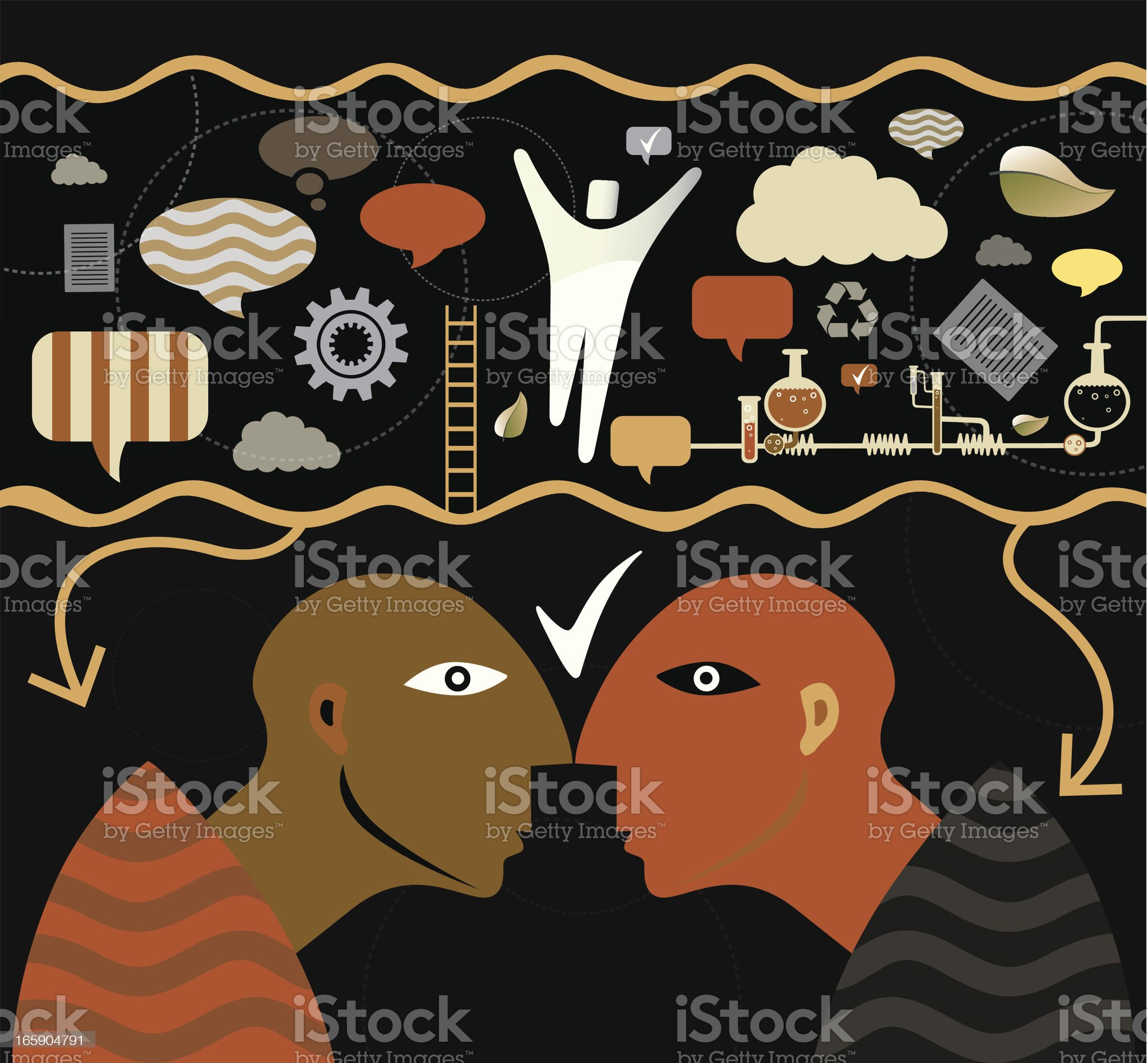 People and Positive Life royalty-free stock vector art