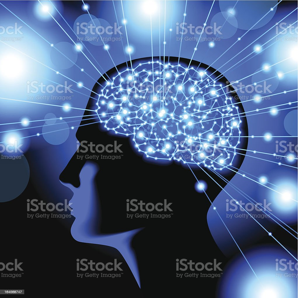 people are actively thinking royalty-free stock vector art