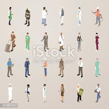 People at work illustration