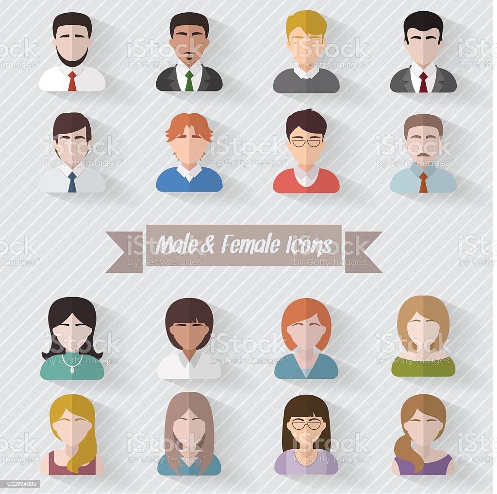 People avatars flat illustration vector art illustration