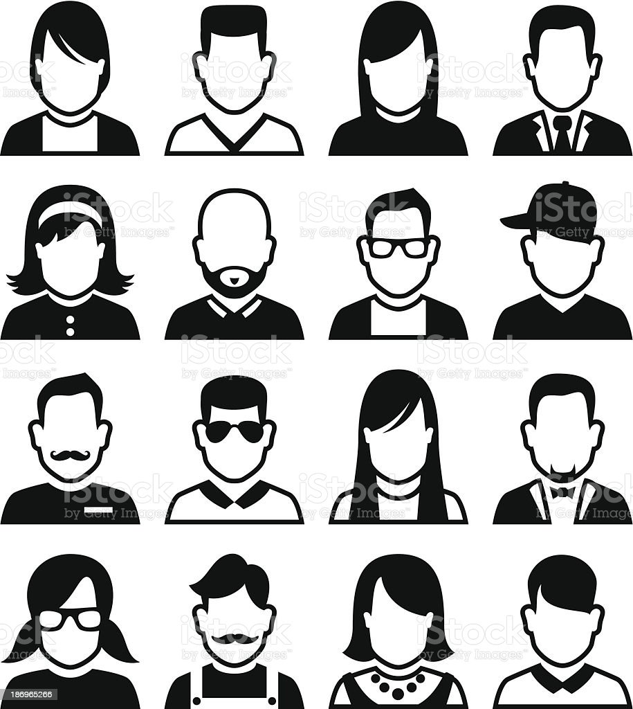 People Avatars vector art illustration