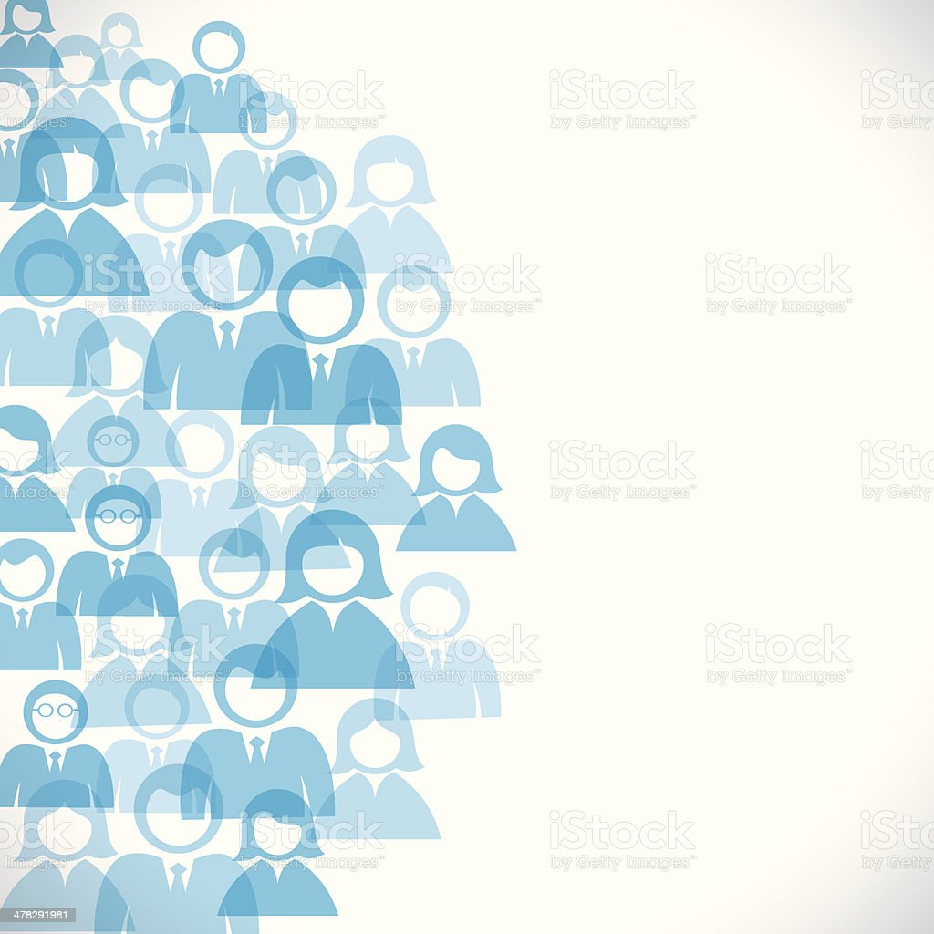 people background vector art illustration