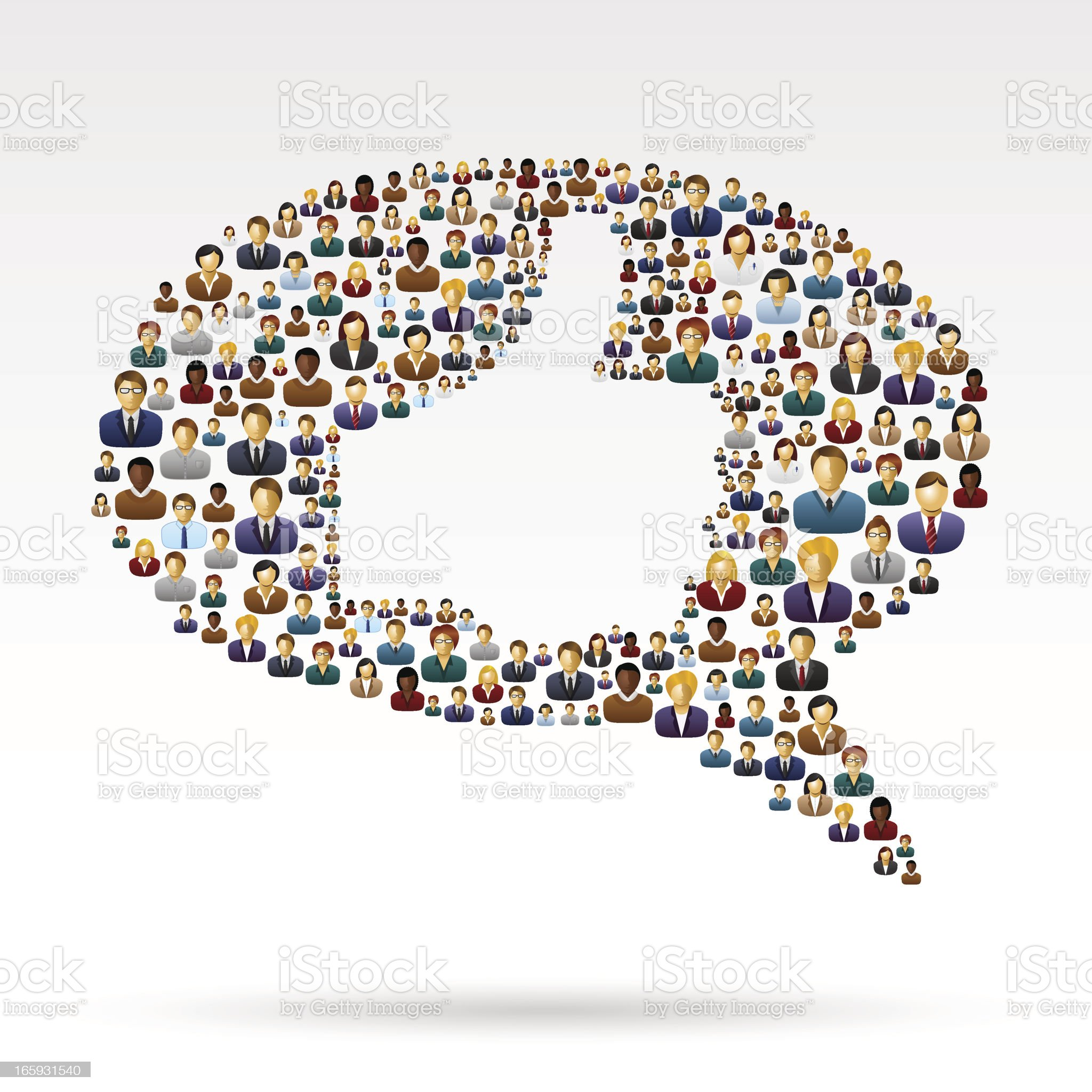 People Bubble with thumb up royalty-free stock vector art
