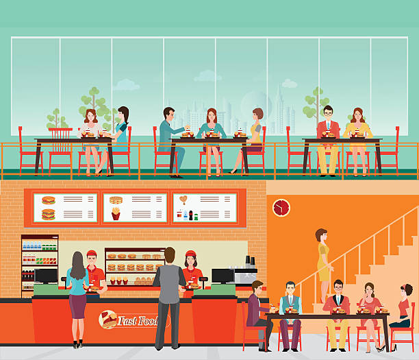 Fast food counter clip art vector images illustrations