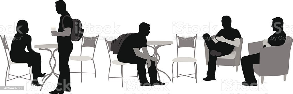 People Cafe royalty-free stock vector art