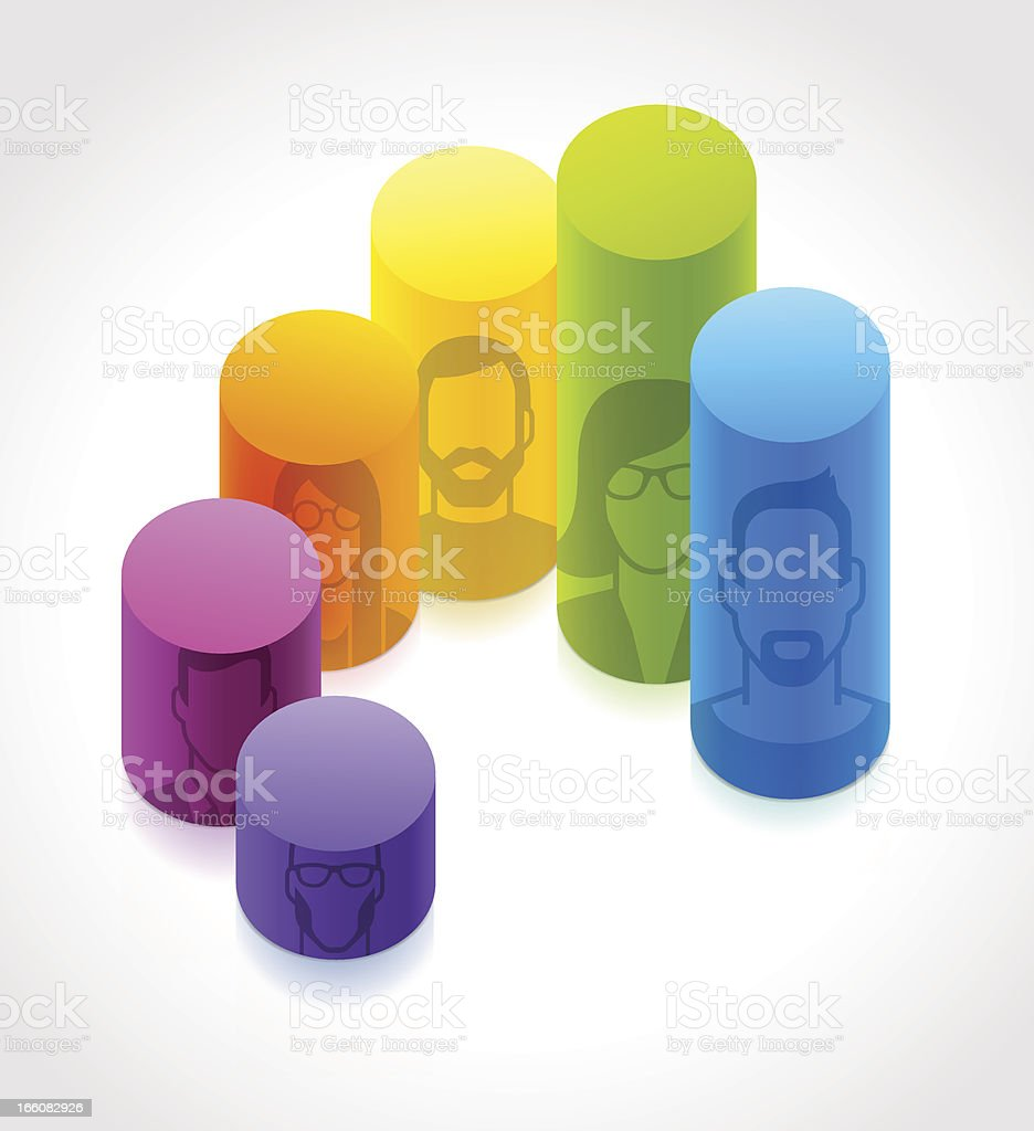 People charts royalty-free stock vector art