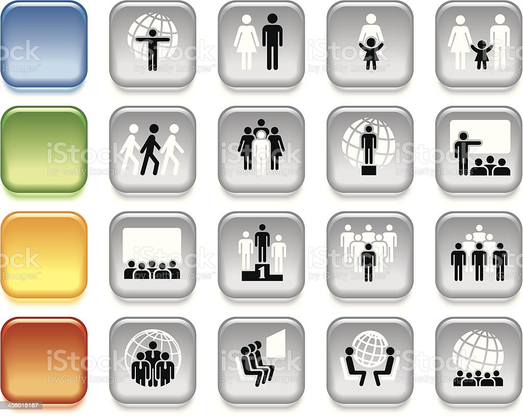 People, colorful icons royalty-free stock vector art
