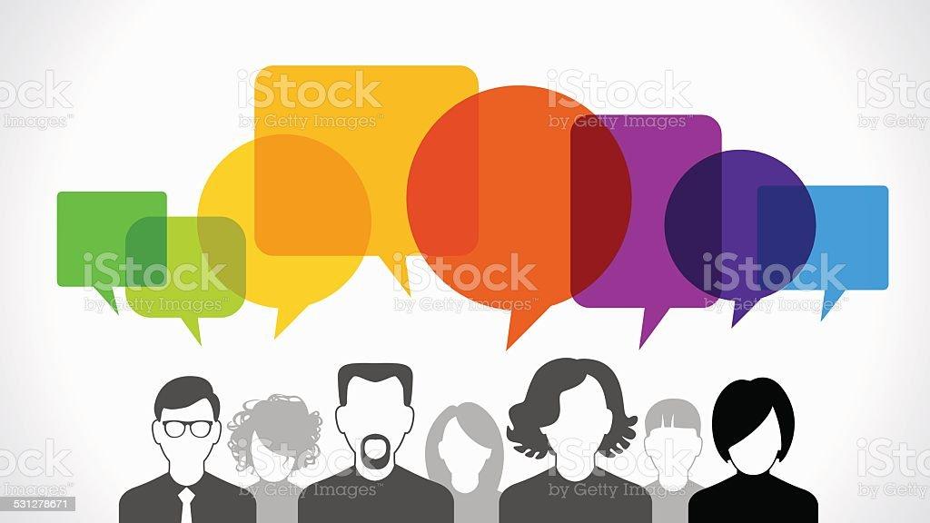 People communication vector vector art illustration