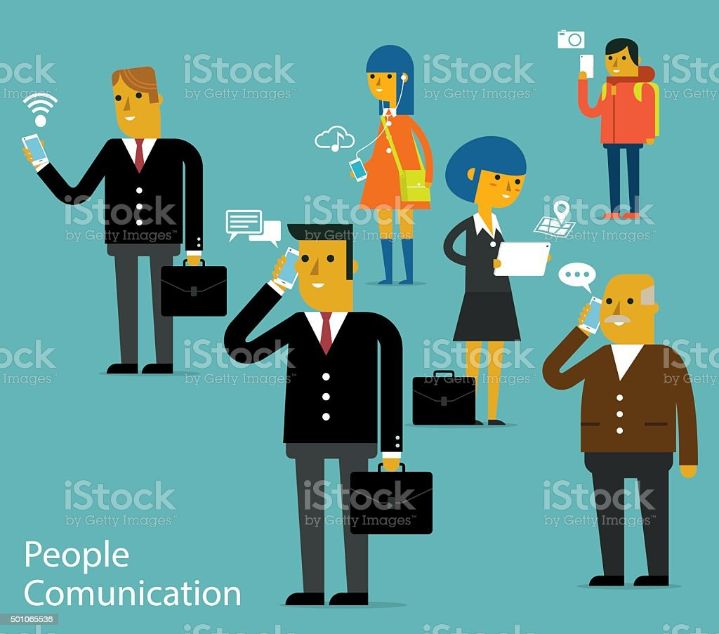 People Comunication vector art illustration