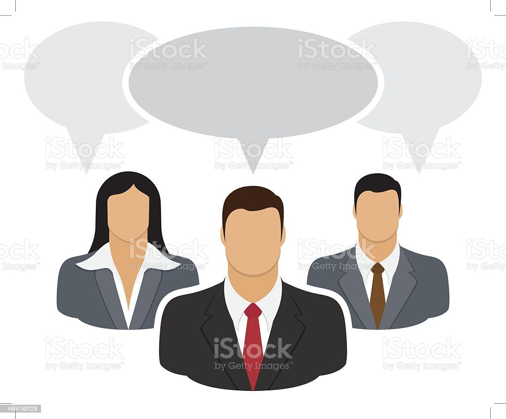 People connecting royalty-free stock vector art