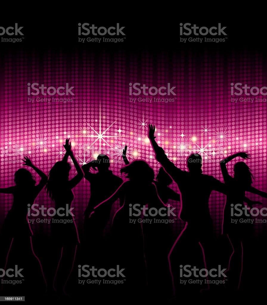 People Dancing in Nightclub royalty-free stock vector art