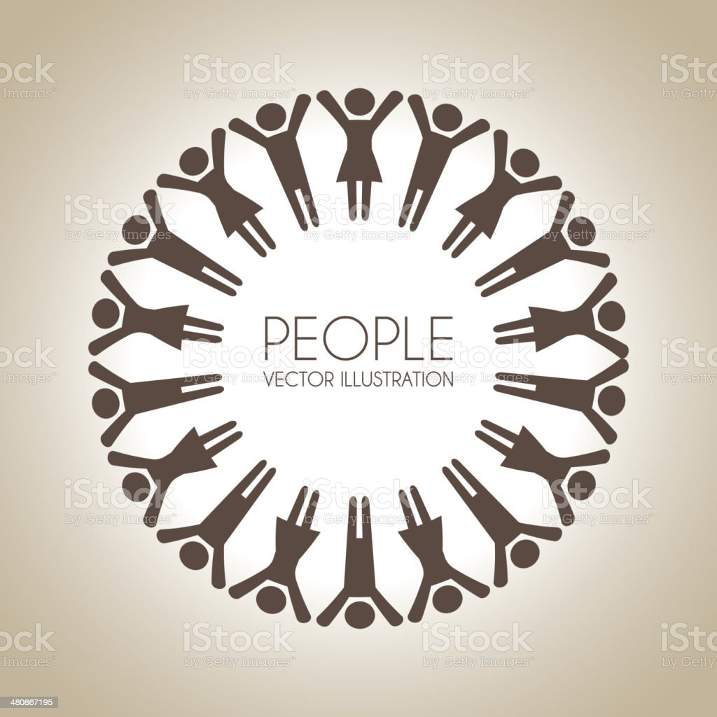 people design vector art illustration