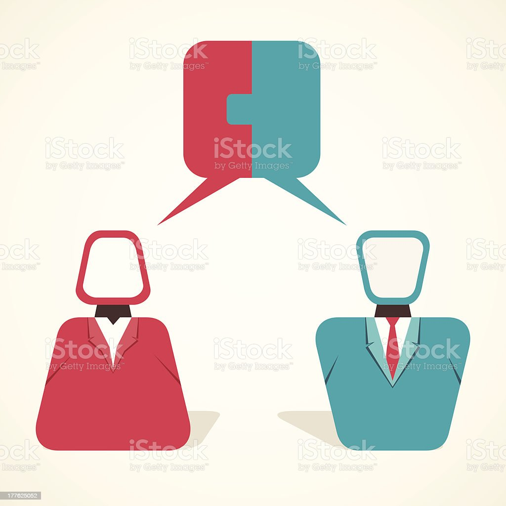people discussion royalty-free stock vector art
