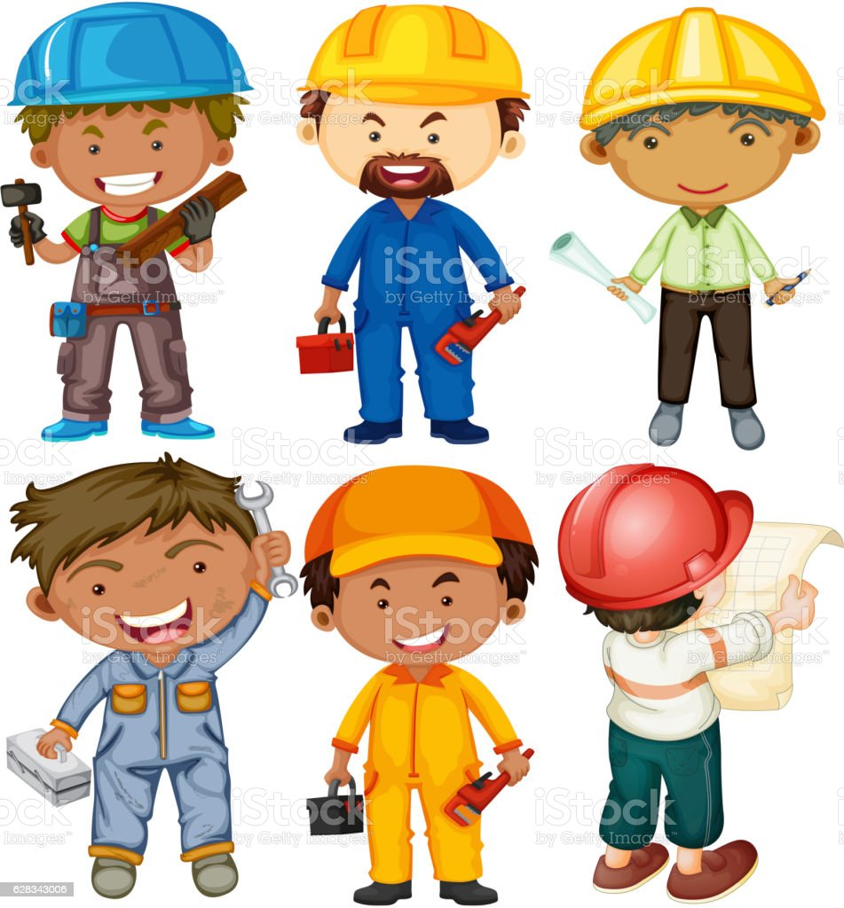 People Doing Different Types Of Jobs Stock Vector Art