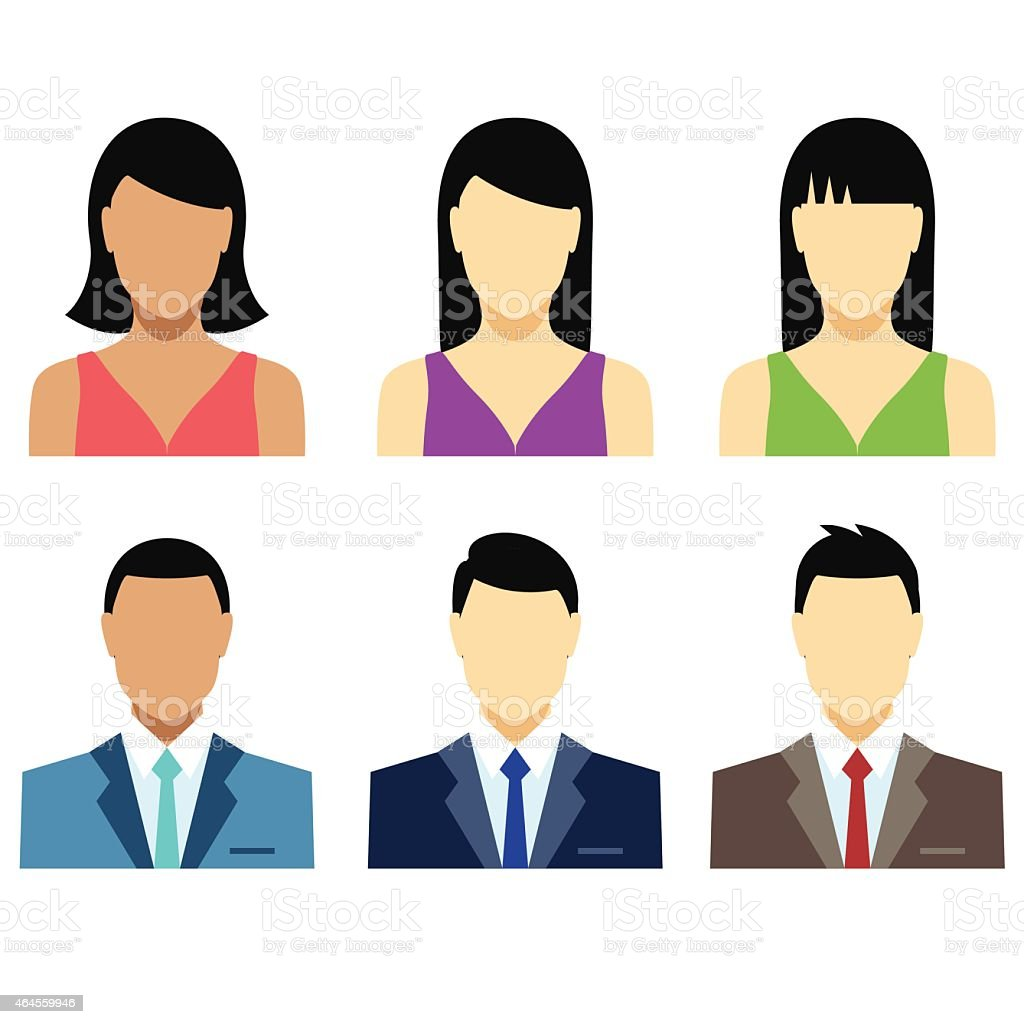 People emojis or avatars - VECTOR vector art illustration