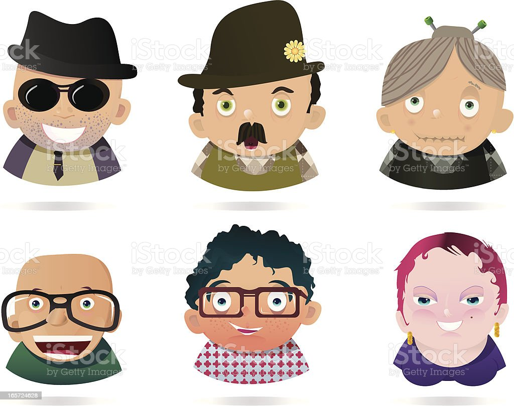 People Faces 1 royalty-free stock vector art