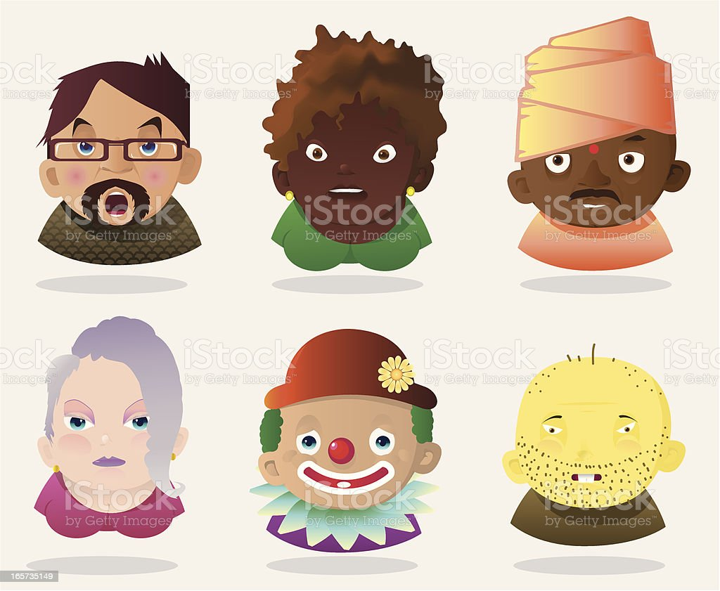 People Faces 11 royalty-free stock vector art