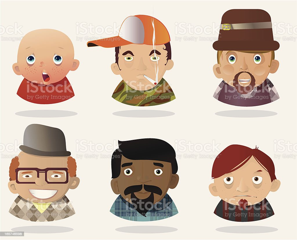 People Faces 19 royalty-free stock vector art