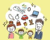 4 people Family: desire, luxury, imagine