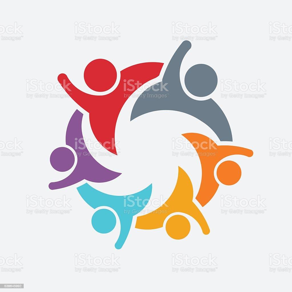 People Family Logo Illustration vector art illustration