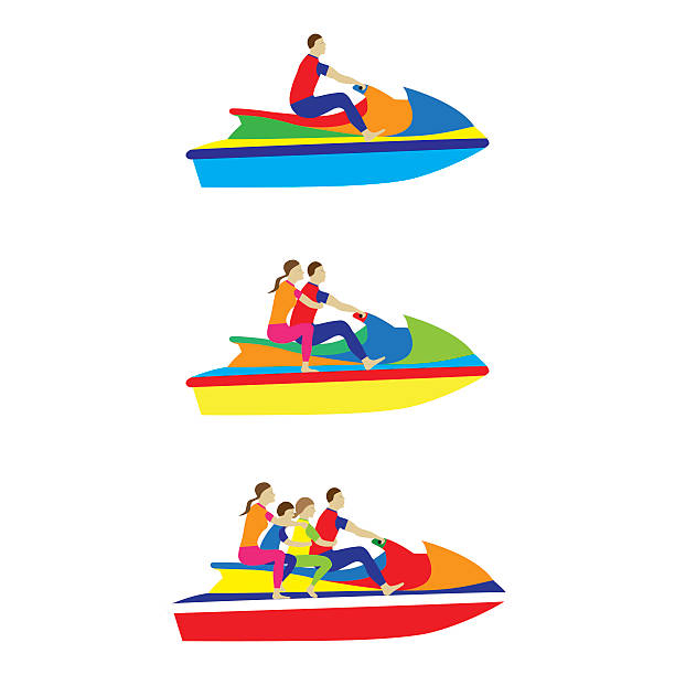 Man Riding Personal Watercraft Clip Art, Vector Images ...