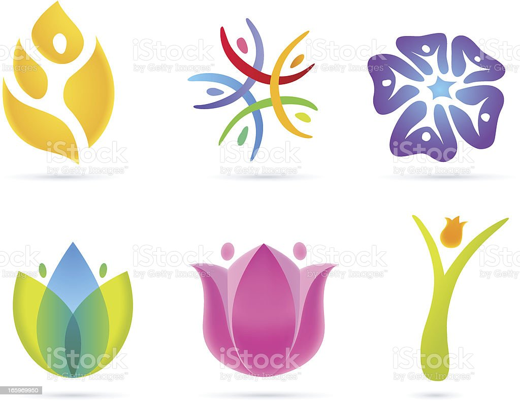 People Flower Concept royalty-free stock vector art