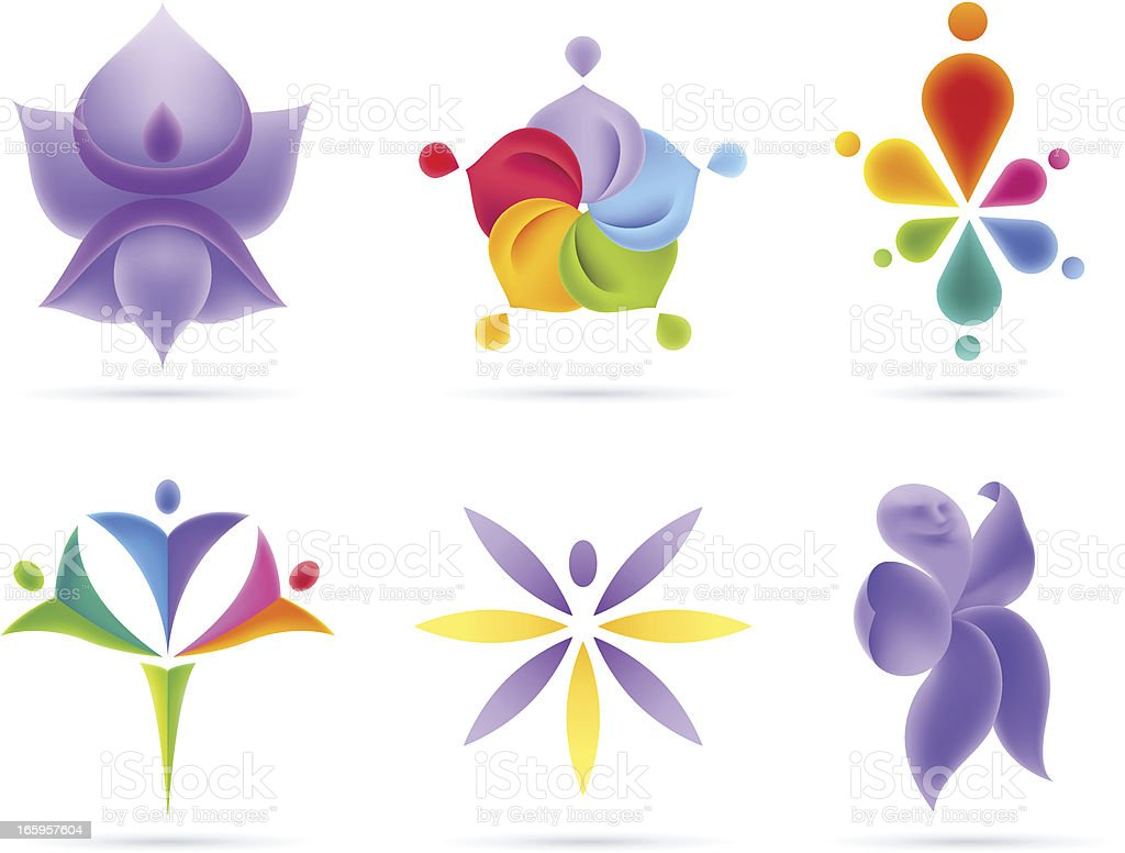 People Flowers Concets vector art illustration