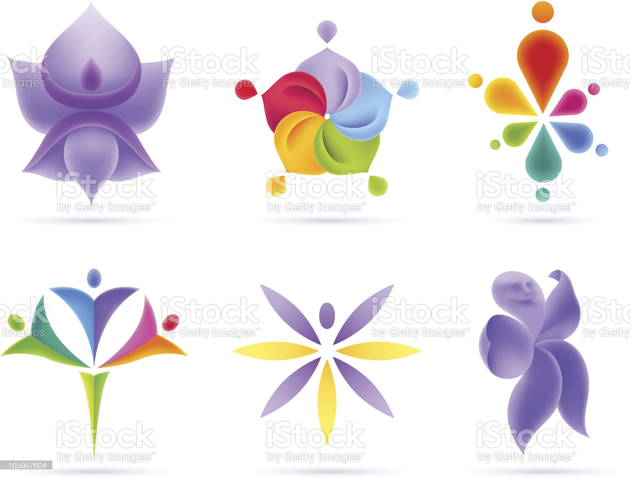 People Flowers Concets royalty-free stock vector art