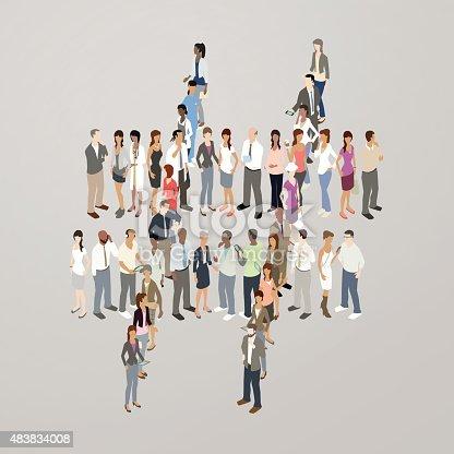 Human Network Illustration